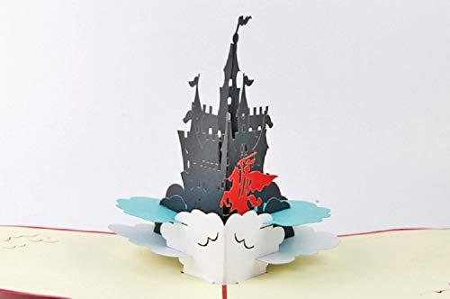 BC Worldwide Ltd Handgemachte 3D Pop Up Geburtstagskarte, Castle Knight Prince, Valentines, Hochzeitstag, Vatertag, Muttertagskarte (Halloween Lustige Karten)