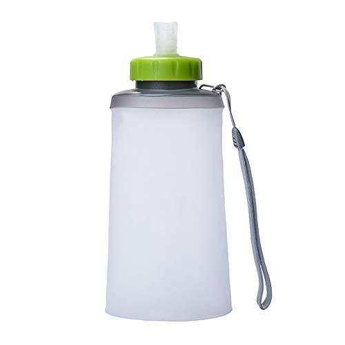 CUPP Vejiga del Agua Botella de Agua de Silicona Botella de Agua Plegable Bolsa de Agua portátil para Deportes al Aire Libre Senderismo Botella de Agua 500ml-750ml (Color : Blanco, Tamaño : 750ML)