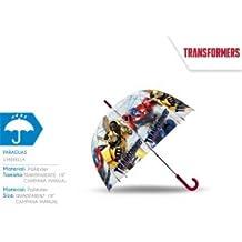 Kids Euroswan - Transformers TF17007. Paragüas Transparente.