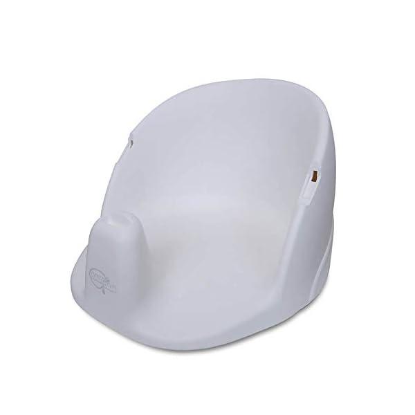 BabyDam Baby Orbital Swivel Bath Seat - White/Grey 3