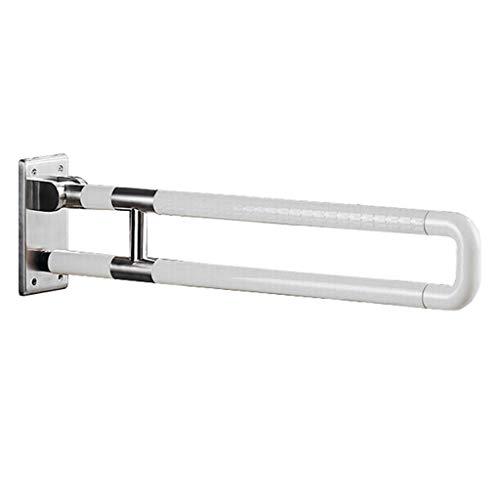 ZXXX Faltbare Toilette Haltegriff, Sicherheit Flip Up U-Form Rahmen Duschstange auf Home Bad und Hotel drehen (Edelstahl beschichtet mit Nylon)