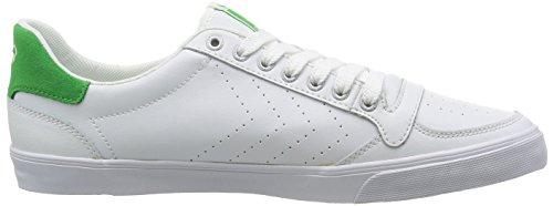 Hummel - Slimmer Stadil Ace, Scarpe da ginnastica Unisex – Adulto Weiß (White/Green 9208)