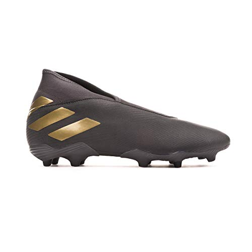 adidas Nemeziz 19.3 LL FG, Bota de fútbol, Core Black-Gold Metallic-Utility Black, Talla 9 UK (43 1/3 EU)