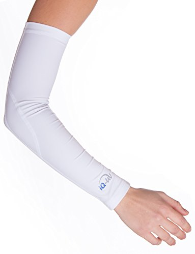 iQ-UV Damen 300 Arm Sleeve, UV-Schutz Armlinge Paar Bandana, White, S