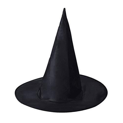 S+S Halloween Oxford Tuch Schwarz Spire Hexe Hat Magic Party Cosplay ()