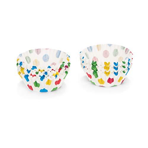 Cup-Cake-Förmchen, 200 Stück, bunte punkte ()