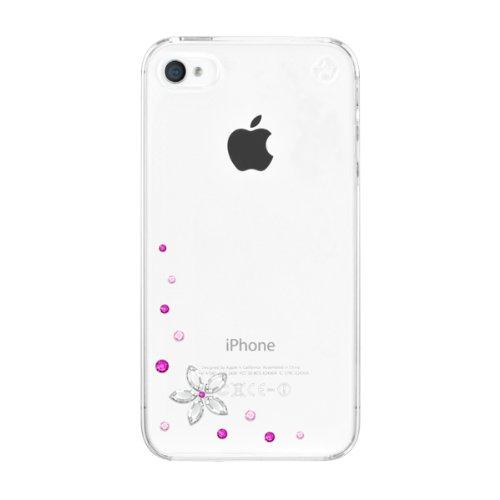 Bling my thing custodia iphone 4/4s, flower pink (1 pellicola protettiva, 1 panno pulizia)