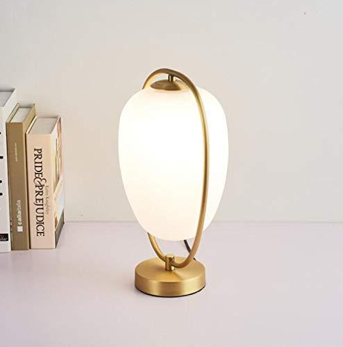 Lámpara de mesa de vidrio lámpara de mesa pequeña lámpara de ...