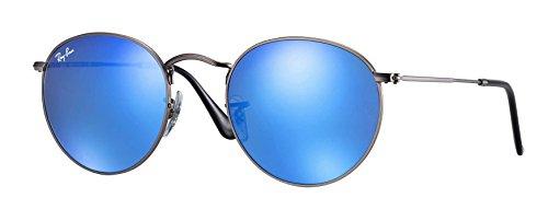 Ray-Ban Unisex-Erwachsene Sonnenbrille Round Metal, Grau (Gunmetal), 50 mm