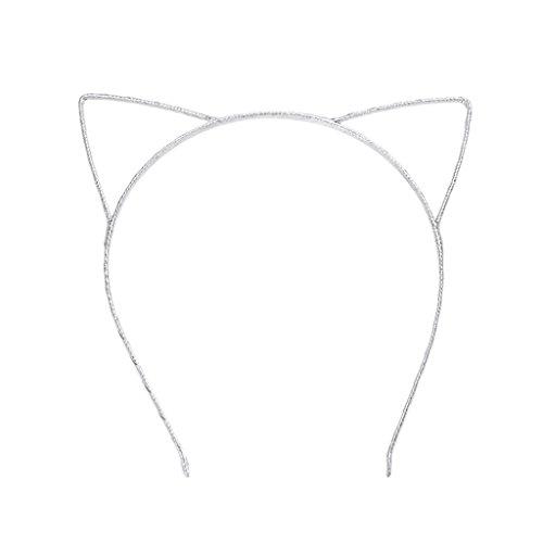 Autone Mädchen Frauen Süße Katze Ohren, Kopfband, Kinder Hoop Haar Band Kostüm Zubehör Geschenke, Silber