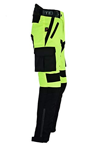 Texpeed Mens Black   Hi Vis Waterproof Motorcycle Trousers With CE Armour -  All Sizes ... 722a8d084