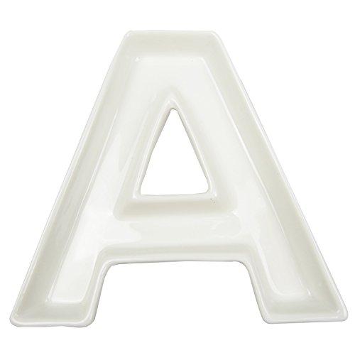 Keramikgeschirr in Buchstabenform, weiß, geeignet als Tischdekoration Letter A Fruit Bowl Candy