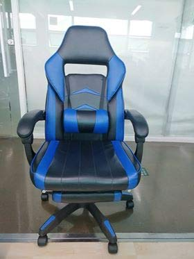 FIXKIT Gaming-/ Büro-/ Schreibtischstuhl, mit Armlehne, Fußstützen, Gamer Stuhl Drehstuhl Höhenverstellbarer PC Stuhl Ergonomisches Chefsessel Racing Stuhl Gelb und Schwarz
