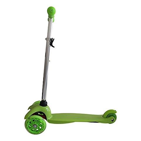Tante Tina - Kinder Scooter / Roller mit leuchtende Räder - 3-rädig - Grün