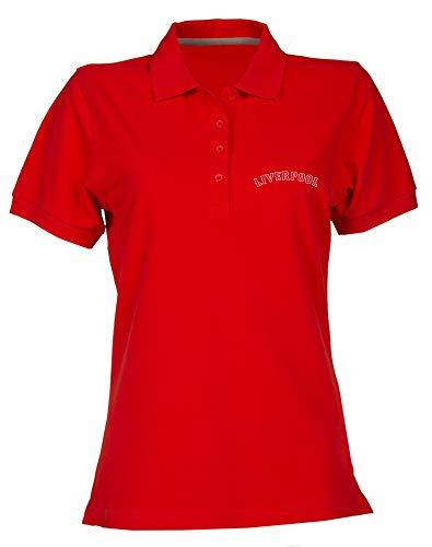 T-Shirtshock Polo fur Frau Rot WC0465 Liverpool Liverpool Fenway
