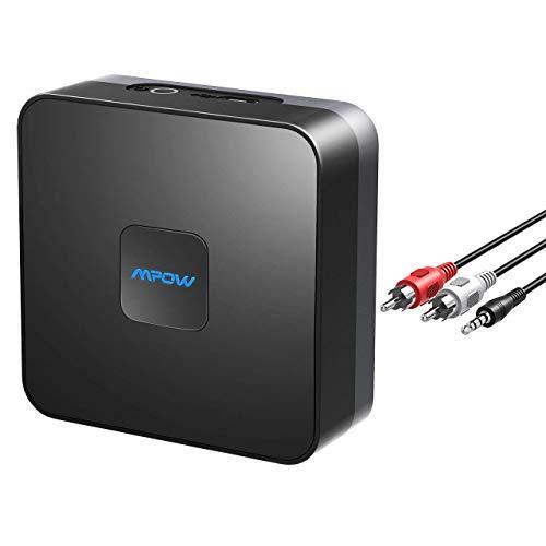 Mpow Bluetooth Empfänger, Bluetooth Receiver für Heim HiFi Auto Lautsprechersystem, Musikstreaming-Soundsystem, Bis zu 15 Stunden, Bluetooth Adapter für Lautsprecher, Kopfhörer Bluetooth