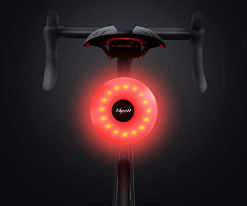 SLCSL Bicycle Rear Light USB Rechargeable With 5 Modes Lighting