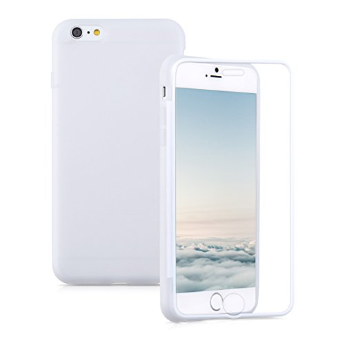 Kwmobile cover in silicone per apple iphone 6 plus / 6s plus - custodia full body case protezione integrale per cellulare bianco