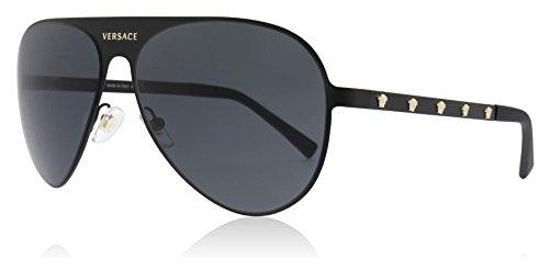 Versace Unisex-Erwachsene 0VE2189 142587 59 Sonnenbrille, Schwarz (Matte Black/Grey)