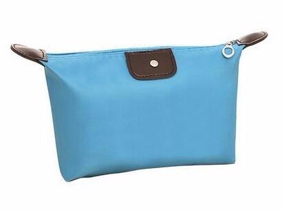 KAFEI Sac cosmétique couleur bonbon portable quenelles Incorporated bleu ciel,petit mignon