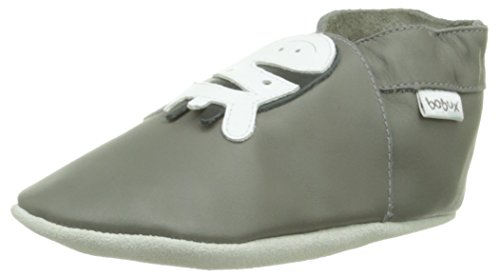 Bobux 460612, Unisex Baby Lauflernschuhe, Grau (grau), 5XL