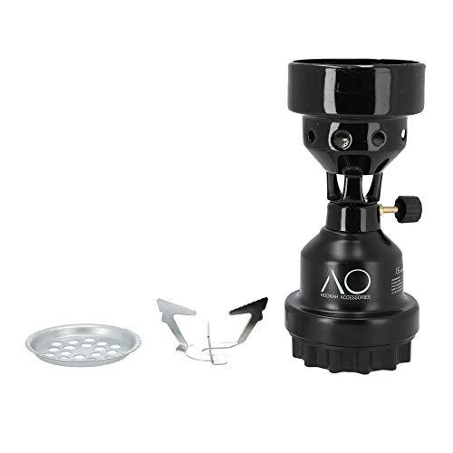 AO® Horno de Acampada hornillo Camping Gas CocinadeGas Quemador Encendedor para carbón cachimba Natural (Negro)