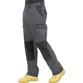 ProLuxe Pantaloni da Lavoro da Uomo, Resistenti, Modello Cargo, con Tasche Imbottite sulle Ginocchia e Cuciture…