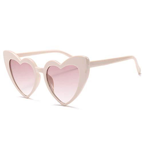 GJYANJING Sonnenbrille Mode Liebe Herz Sonnenbrille Frauen Vintage Katzenauge Sonnenbrille Beste Geschenk Für Weihnachten Geburtstag Brille Für Frauen