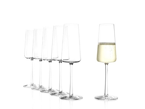 Stölzle Lausitz POWER Champagnerkelch 238 ml, 6er Set Champagnergläser, spülmaschinenfest, bleifreies Kristallglas, hochwertige Qualität, elegant und bruchbeständig
