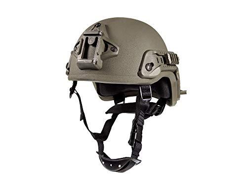 ZEBRA ARMOUR Gefechtshelm Viper 3 Helmet KSK Farbe Oliv, Größe M (55-58 cm) -