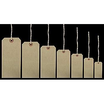 cae2dfe100f9 G2PLUS 100 PCS Kraft Gift Tags 5 CM * 10 CM Blank Label Paper ...