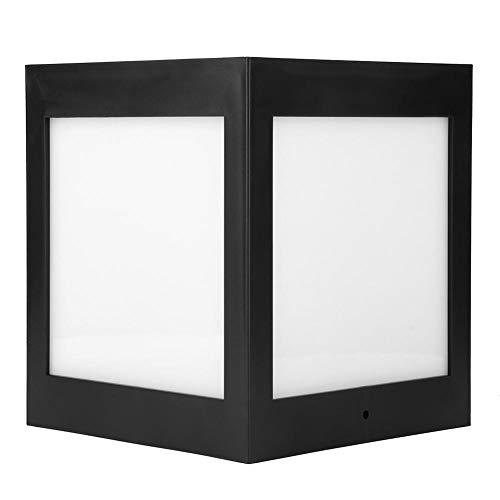 Kafuty Solar-Landschaftsleuchte - IP65 Wasserdichter Zaunpfosten Solarleuchten Außenbeleuchtung LED Weißlicht für Garten, Hof, Durchgang, Treppe
