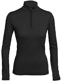 Icebreaker Wmns Oasis LS Half Zip - Camiseta larga de balonmano americano para mujer, color negro, talla XS