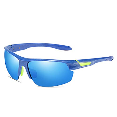 YWYU Polarisierte Sport-Sonnenbrille, 8526 Outdoor-Fahrradbrille, strahlungssichere TAC-Gläser, farbenfrohe, explosionssichere Sonnenbrille mit Sandschutz für Bergsteigerreisen (Color : E)