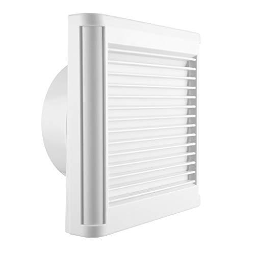 Badezimmer-Zubehör Saugventilator Kunststoff Quadratische Wand Glas Ventilator Decke Typ 15W Küche Bad Abluftventilator Top Fan Stumm Geringen Verbrauch (Size : 8 inches) -