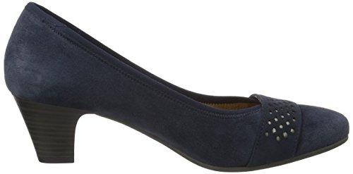 Jana - 22300, Scarpe con Tacco Donna Blu (NAVY SUEDE 806)