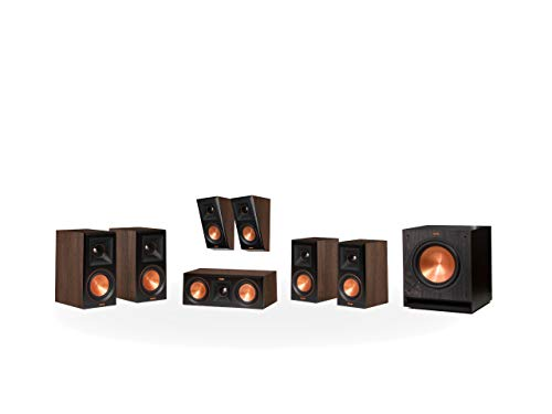 Klipsch RP-600M 5.1.2 Dolby Atmos Home Theater System Walnuss -