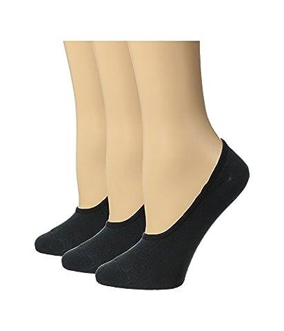 Sperry Top-Sider Women's Canoe Liner Solid 3-Pack Black Socks Women's 9-11 Sock (5-9 Shoe)