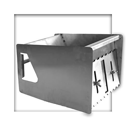 Mörtelschlitten aus Edelstahl f. Dünnbettmörtel Mauerstärke 240 mm