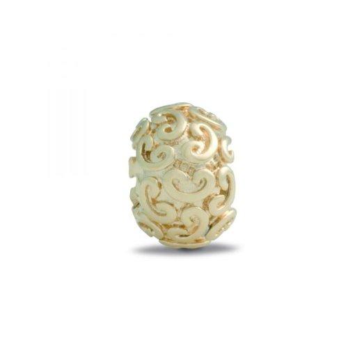 Pandora Damen-Bead  14 Karat (585) Gelbgold Kugel mit Herzornamenten