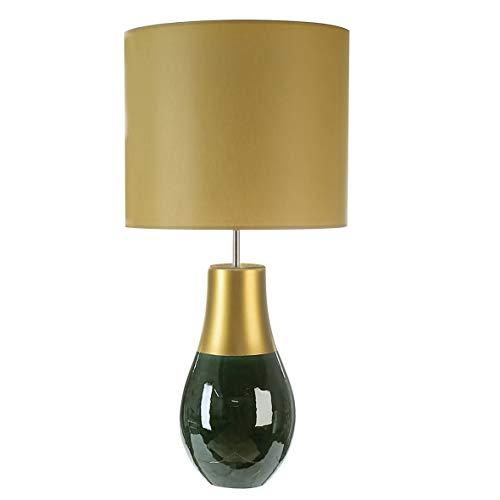 Casablanca Lampe Fascio grün gla./goldfarben H.71 cm aus Keramik,E27 Fassung,ma x .60W,2 30V,50Hz BxHxT 0 x 71 x 0 - Grüne Keramik Tisch Lampe