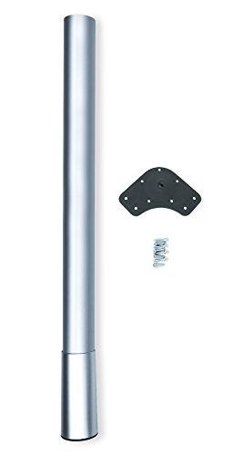 Emuca 2034725 - Pata para mesa altura regulable (Ø 60 x 687 x 800 mm) en acero pintado aluminio