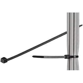 500 Stück wetterfeste Nylon Kabelbinder, schwarz, Länge 150 mm, Breite 3,5 mm