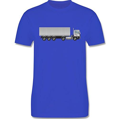 Andere Fahrzeuge - Sattelzug Container Sattel 40 Tonner - Herren Premium T-Shirt Royalblau