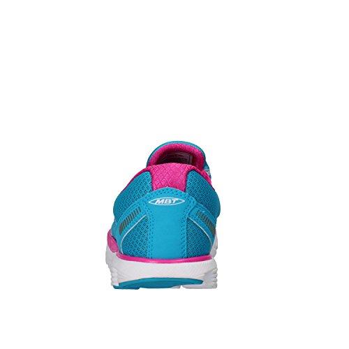 MBT Sneakers Donna Tessuto Nabuk Blu/Fucsia