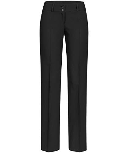 GREIFF Damen-Hose Anzug-Hose, Farbe: Schwarz, Gr: 38