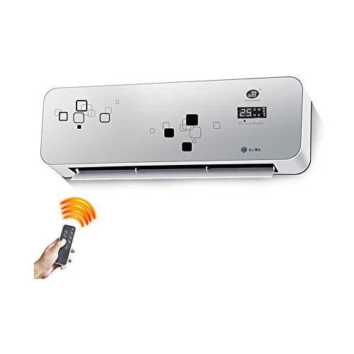 Radiateurs électriques CJC Électrique Chauffe-Eau PTC Céramique Mural Salle De Bains Accueil Éloigné Contrôle Imperméable 8 Heure Timing (Couleur : T2)