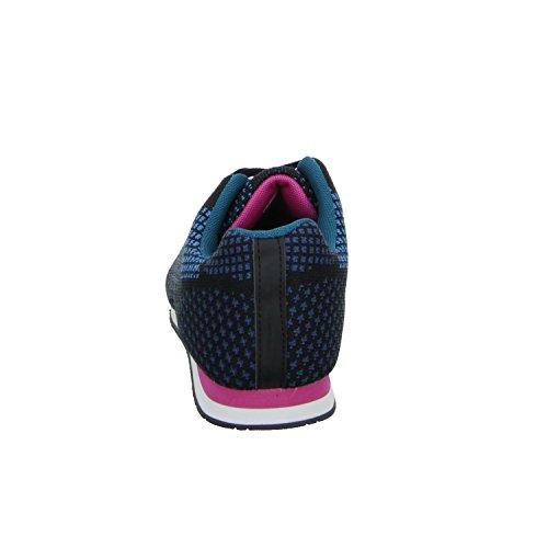 SDS 973-A Mädchen Schnürhalbschuh sportlicher Boden Blau (Blau)