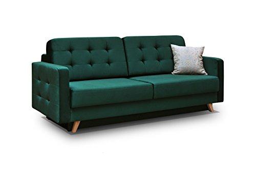 Schlafsofa Kippsofa Sofa mit Schlaffunktion Klappsofa Bettfunktion mit Bettkasten Couchgarnitur Couch Sofagarnitur – CARLA