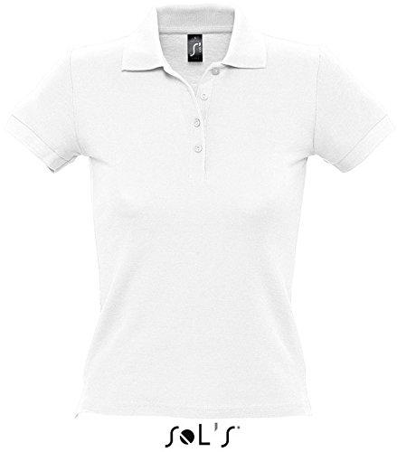 SOLS People Damen Polo-Shirt, Kurzarm (Medium) (Weiß)